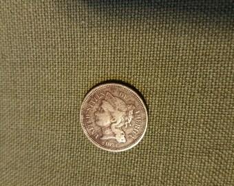 1873 Three Cent Nickel Coin