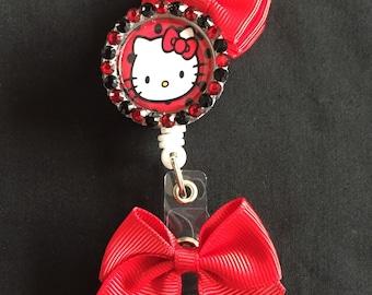 Hello Kitty Retractable Badge Holder