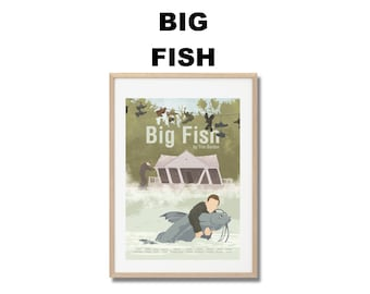 Big Fish - Print - Poster - Tim Burton A3