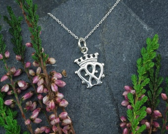 Scottish Luckenbooth necklace Mary Queen of Scots jewellery, sterling silver. Made in Scotland by Lys & Rose