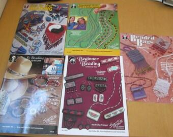 Five beading pattern books