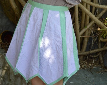 Funky Hand Made Purple and Green Skirt