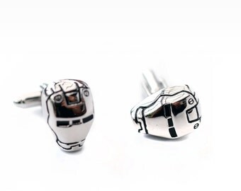 Cufflinks iron man - silver quality cufflink
