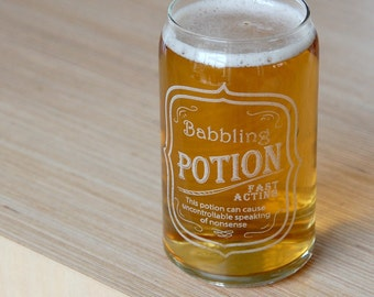 Babbling Potion Beer Glass, Fun Tin Shaped Beer Glass (OHSO653 - 37B1)
