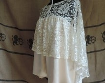 """Lace and pink satin blouse """"Marie"""", backless."""