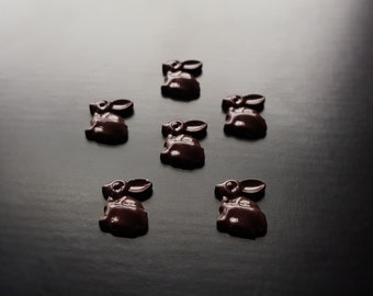 Chocolate Easter Bunny Floating Charm for Floating Lockets-Gift Idea