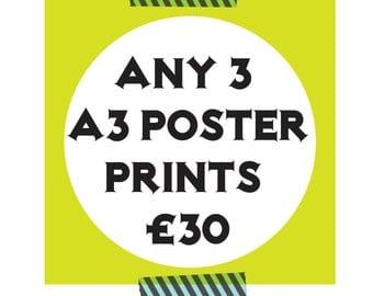 X3 A3 Print Offer