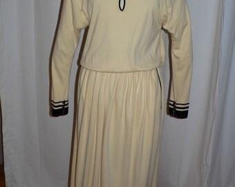 1970's-80s Vintage Designer Chloe Dress Soft Yellow Jersey Size 44 - 14