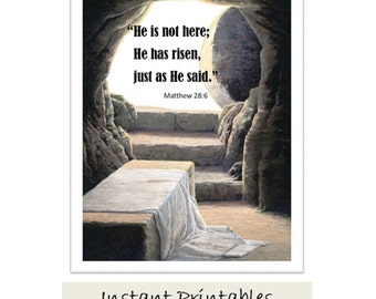 He Is Risen Pallet Wall Hanging Cross Wall Hanging