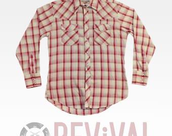 Vintage Pearl Snap Shirt ~ Size M