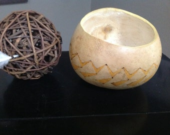 Geometric decorative gourd bowl