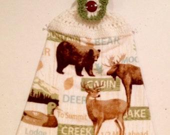 Wildlife Crocheted Kitchen Towel