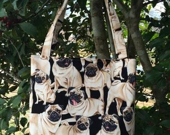 Pug lunch bag | Etsy