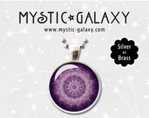 CUSTOM Mandala Necklaces, Mandala Pendant, Boho Necklace, Hippie Jewelry, Yoga Necklace, Mandala #037