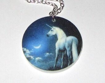 Necklace Pendant - Moonshine Unicorn - Acrylic print