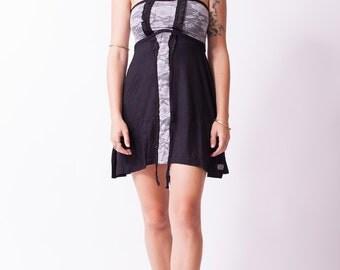 MINIMAL DRESS - BLACK/gray