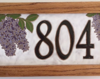 Lilac address tile