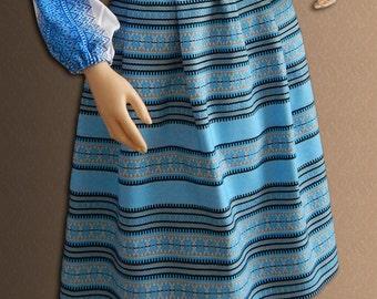 Ukrainian skirt Embroidered skirt Ukrainian clothing Blue Red Ethnic skirt Ukrainian embroidery Folk skirt