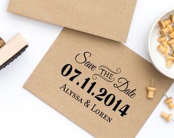 Save the Date, Wedding Stamp, Wedding Invitation stamp, Save the Date Stamp, Custom Save the Date Stamp Wedding Stamp Style No. 11W