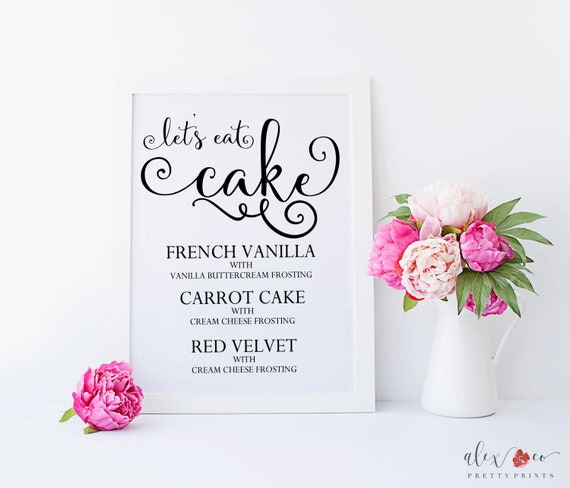 wedding cake flavour sign cake flavor sign cake sign cake table by alexandcoprintables 22662