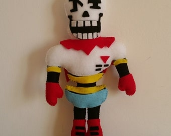 Felt handmade plush Papyrus (unofficial)from Undertale, felt plushie,Papyrus plush,Undertale Papyrus,Papyrus stuffed toy