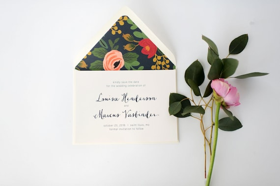 louisa save the date invitation  -  customizable (sets of 10)  //  lola louie paperie