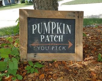 Pumpkin Patch sign, fall sign, harvest sign, halloween sign, rustic fall sign, pallet sign, pumpkin patch, farmhouse, fall porch, you pick