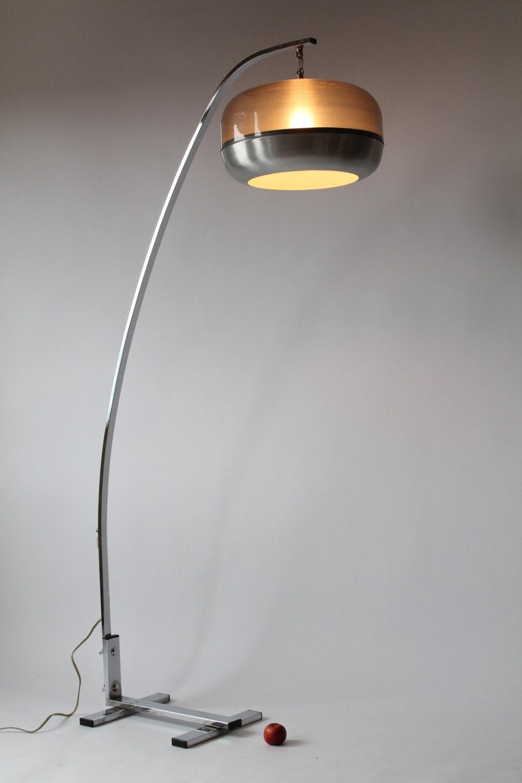 Arch Lamp Acrylic Shade Mid Century Vintage 1970 Era