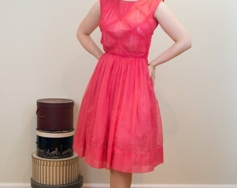 Early 1960s Sheer Party Dress