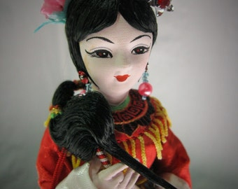Oriental Silk Broider China Doll