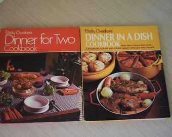 Betty Crocker Dinner for Two Cookbook 1974 and Betty Crocker Dinner in a Dish Cookbook 1971