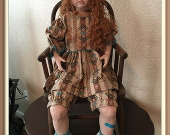"""30"""" Porcelain Doll with Rocking Chair"""