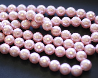 12MM Pink Shell Pearls