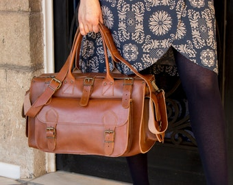 Leather weekender bag | Etsy