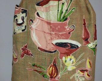 Sue-Sets Vintage Mid Century Applique Apron