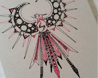 Fine art embroidery 'Thunderbird'