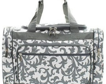 Personalized Duffle Bag, Duffle Bag, large duffle bag, Monogrammed Duffle Bag, Duffle, Gray Duffle Bag, Weekender duffle bag, Luggage