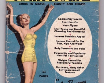 Bonomo Handy Pocket Manual, Beautify Your Figure, Joe Bonomo, Guide to Grace, Beauty and Charm, Mid-Century Beauty, Illustrated Pocket Book