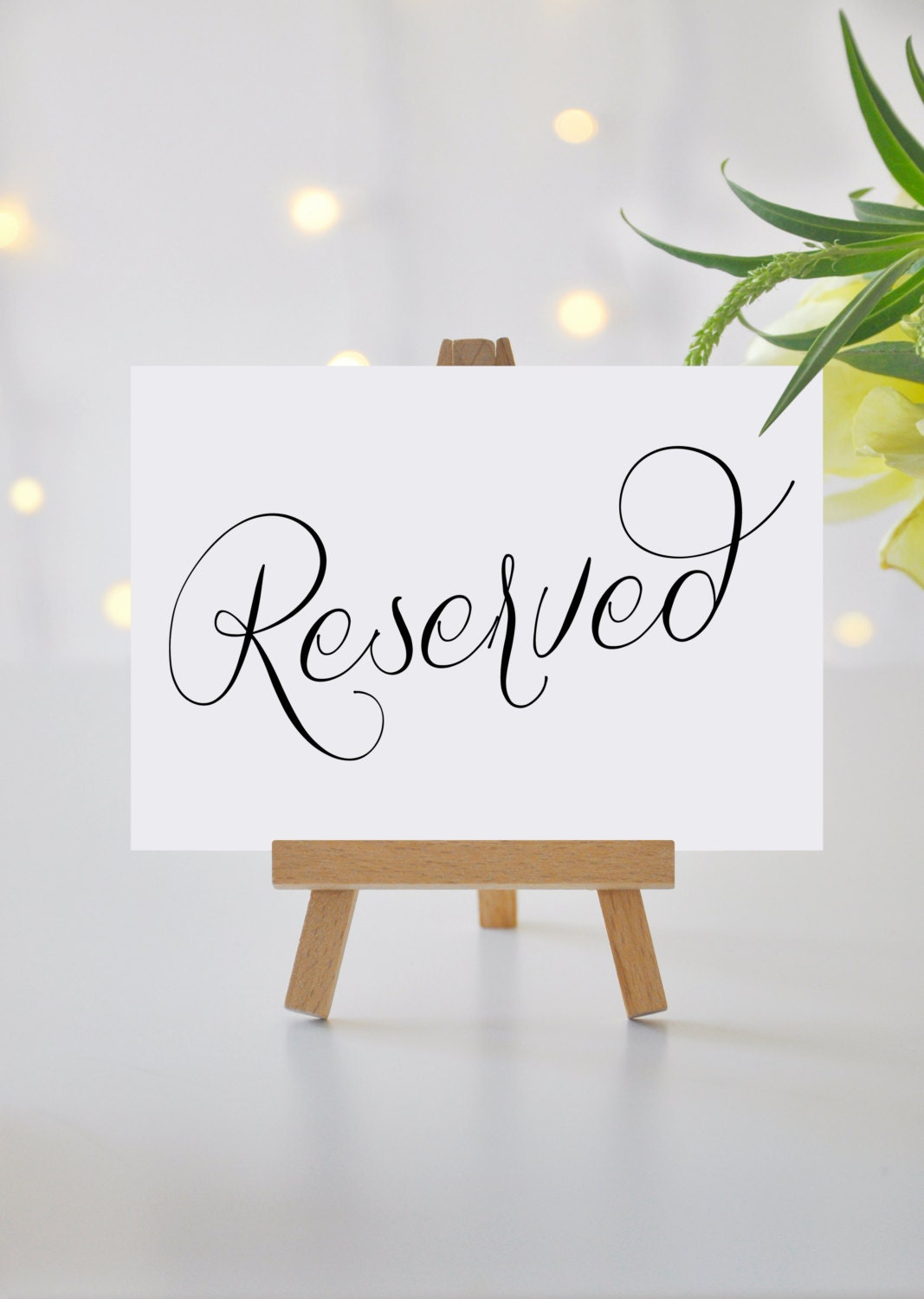 This is a photo of Decisive Printable Reserved Signs