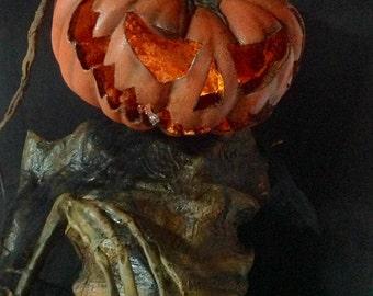 Corpsed Pumpkin Halloween Scarecrow Prop
