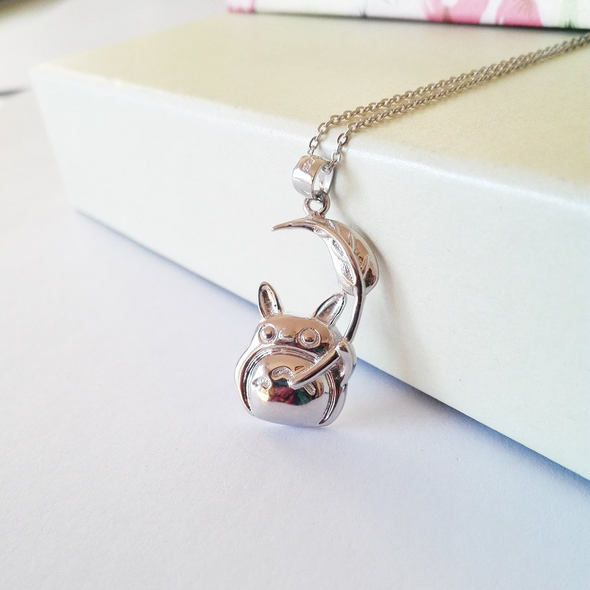 totoro necklace made with sterling 925 silver