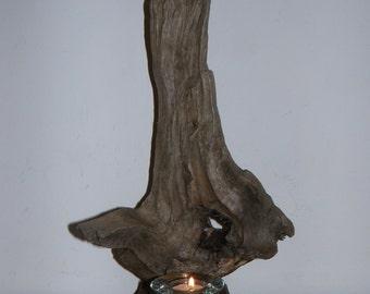 Stunning OOAK Driftwood Candle Lit Sculpture