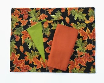 Fall Cloth Placemats, Fall Leaves Table Decor, Thanksgiving Placemats, Autumn Table Decor, Fall Leave Placemats