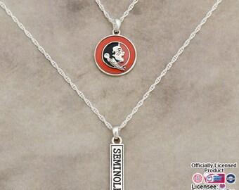 Florida State Seminoles Double Down Necklace - FSU57788