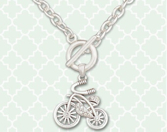 Bicycle Toggle Necklace - 53639