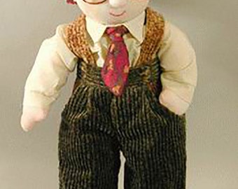 """Cloth Doll Pattern Boy - Doll Sewing Pattern - Sew your own dolls - Carson - 16"""" Simply Kids Mailed pattern"""