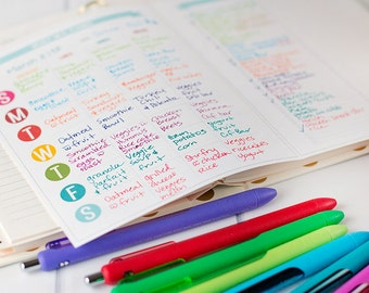 Rainbow Weekly Meal Planner Printable - 2-for-1! - Letter Size