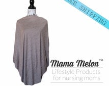 gold brown with black Nursing Poncho Nursing Cover Breastfeeding Poncho Mom to be Top Breastfeeding Cover Baby Shower Gift new mama gift