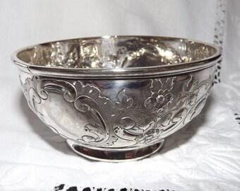 Sugar Bowl Silver Plate Antique Repousse  MH & Co 1854 EPNS