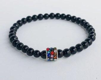 Mens bracelet - Beadead Bracelets - Gemstone Bracelet - stretch bracelet - bracelet homme - bracelet for men - men braceletes - bohemian